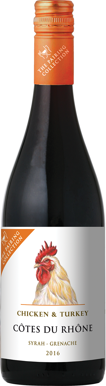 Barton & Guestier The Pairing Collection Chicken & Turkey Syrah - Grenache Cotes du Rhone AOP, 0.75л