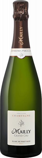 Mailly Grand Cru Brut Blanc de Pinot Noir Champagne АОС, 0.75л