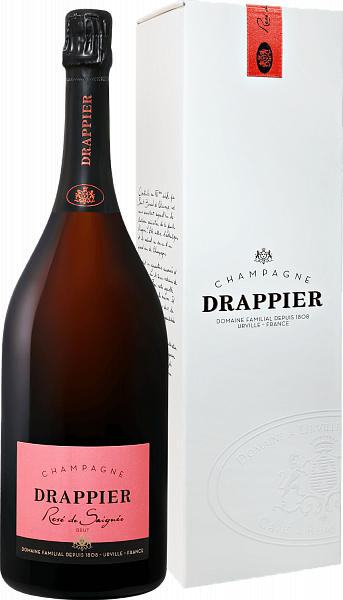 Drappier Brut Rose Champagne AOP in gift box, 1.5л