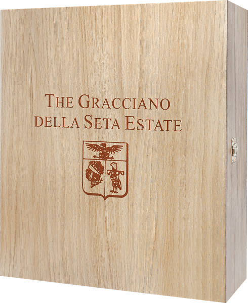 Gift box Gracciano della Seta for 3 bottles, oak