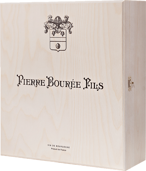 Gift box Pierre Bouree Fils for 3 bottles, birch