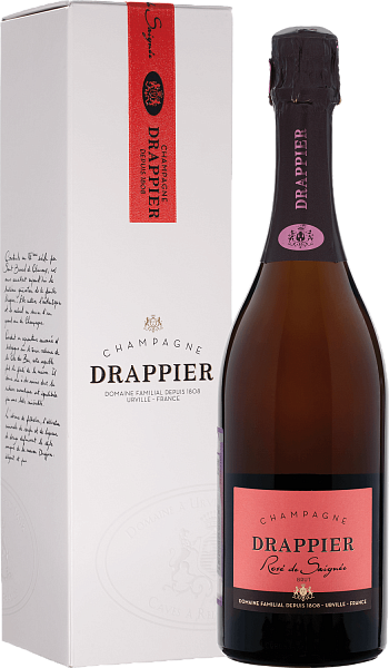 Drappier Brut Rose Champagne AOP in gift box, 0.75л
