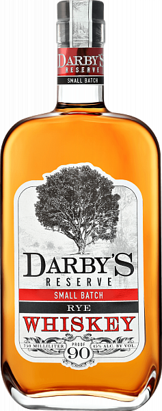 Darby`s Reserve Small Batch Rye Whiskey, 0.75л