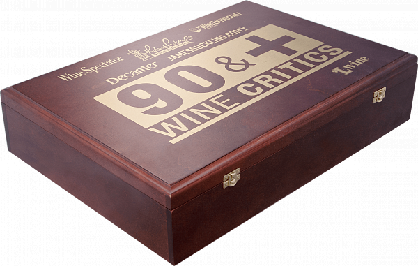 90+ gift box for 5 bottles, birch